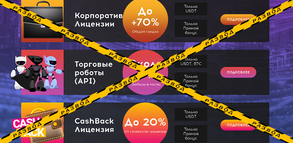 Тарифы финансовой пирамиды Quvittech