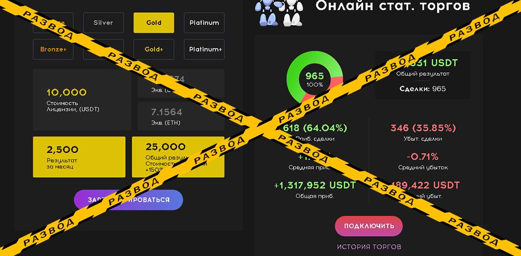 Калькулятор доходности на сайте Quvittech