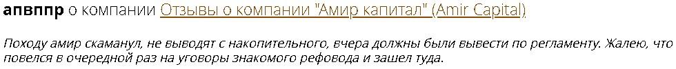 Отзывы Amir Capital