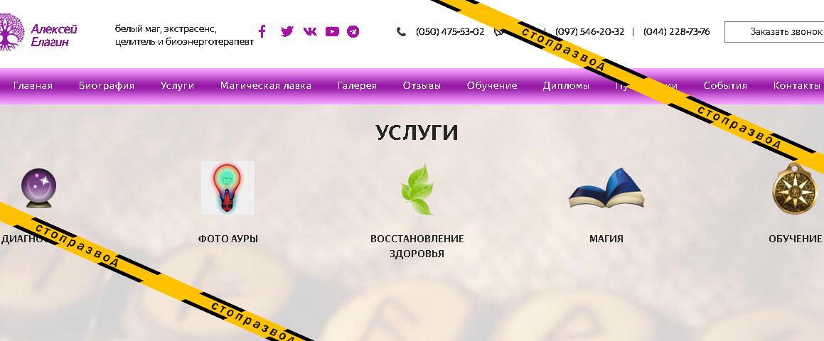 услуги Алексея Елагин
