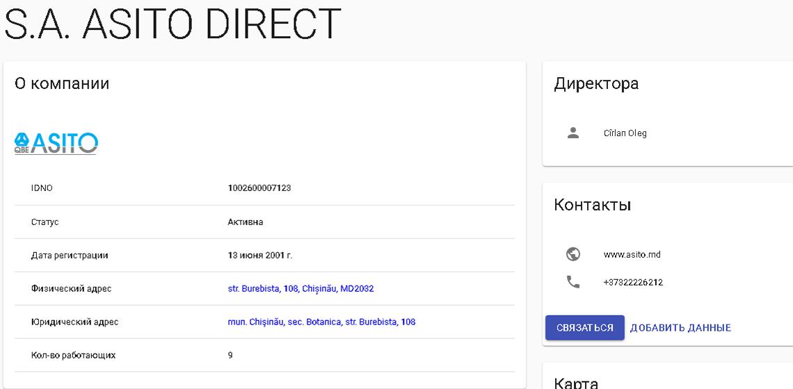 Номер лицензии страховой компании Asito Direct SA