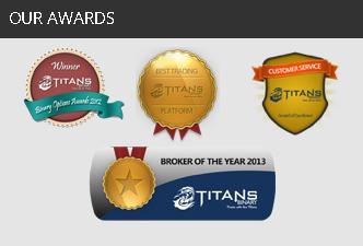 Награды Титан Трейд