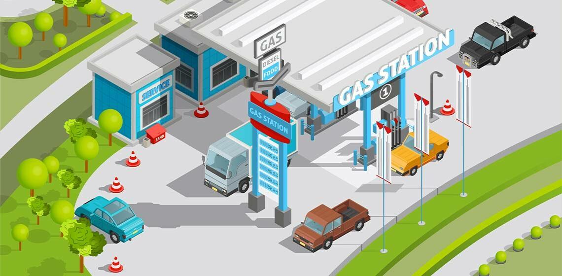 Газовая станция веб рисунок