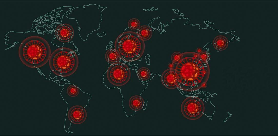 Карта коронавируса по всему миру