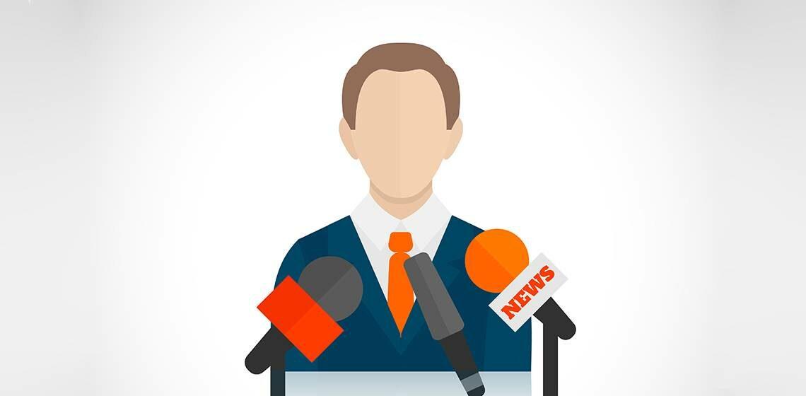 Политик дает интервью