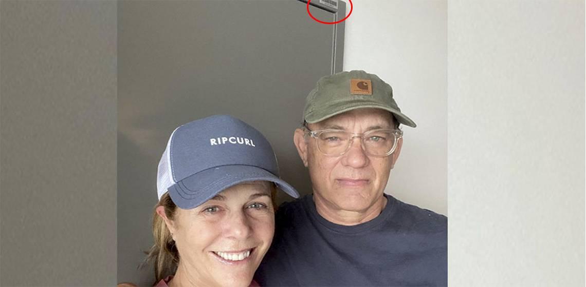 Том Хэнкс и жена