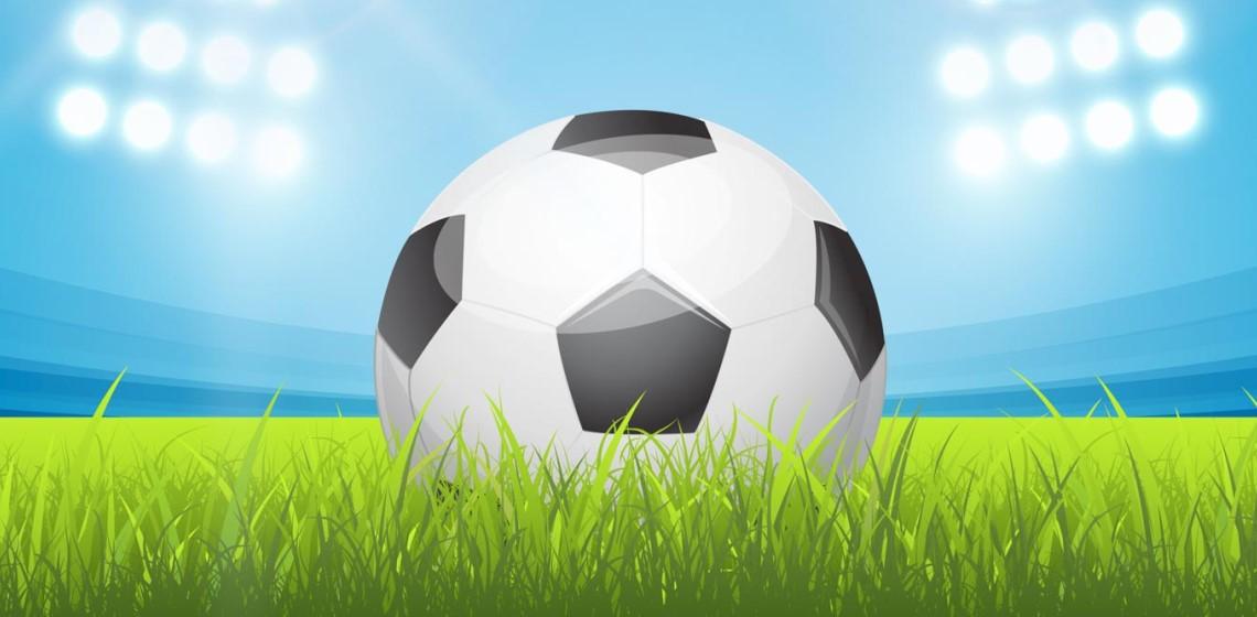 Футбольный мяч и стадион