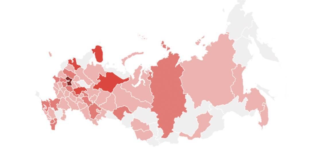 Карта коронавируса в России