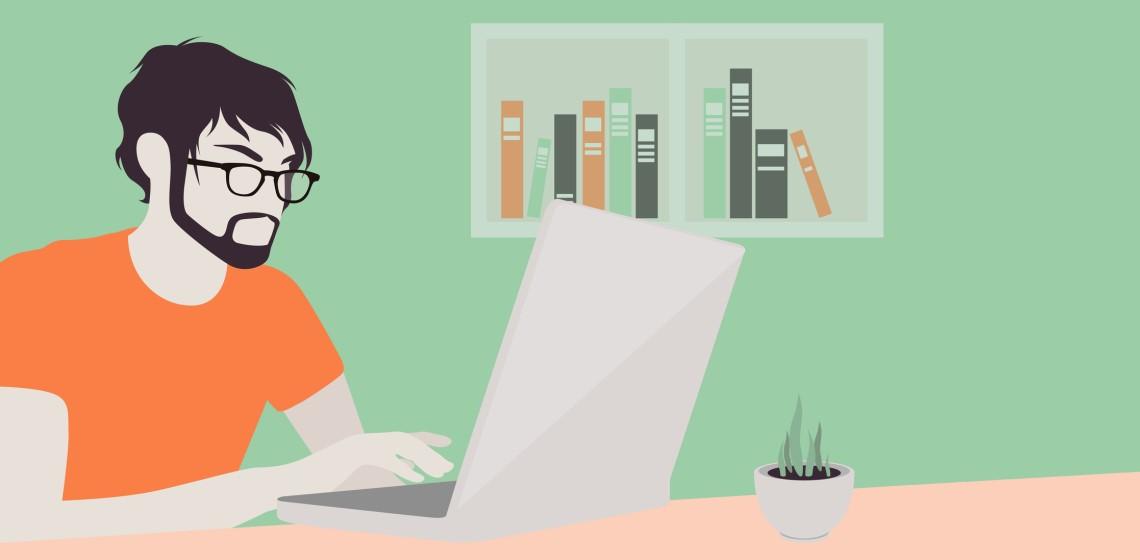 Блогер анализирует контент