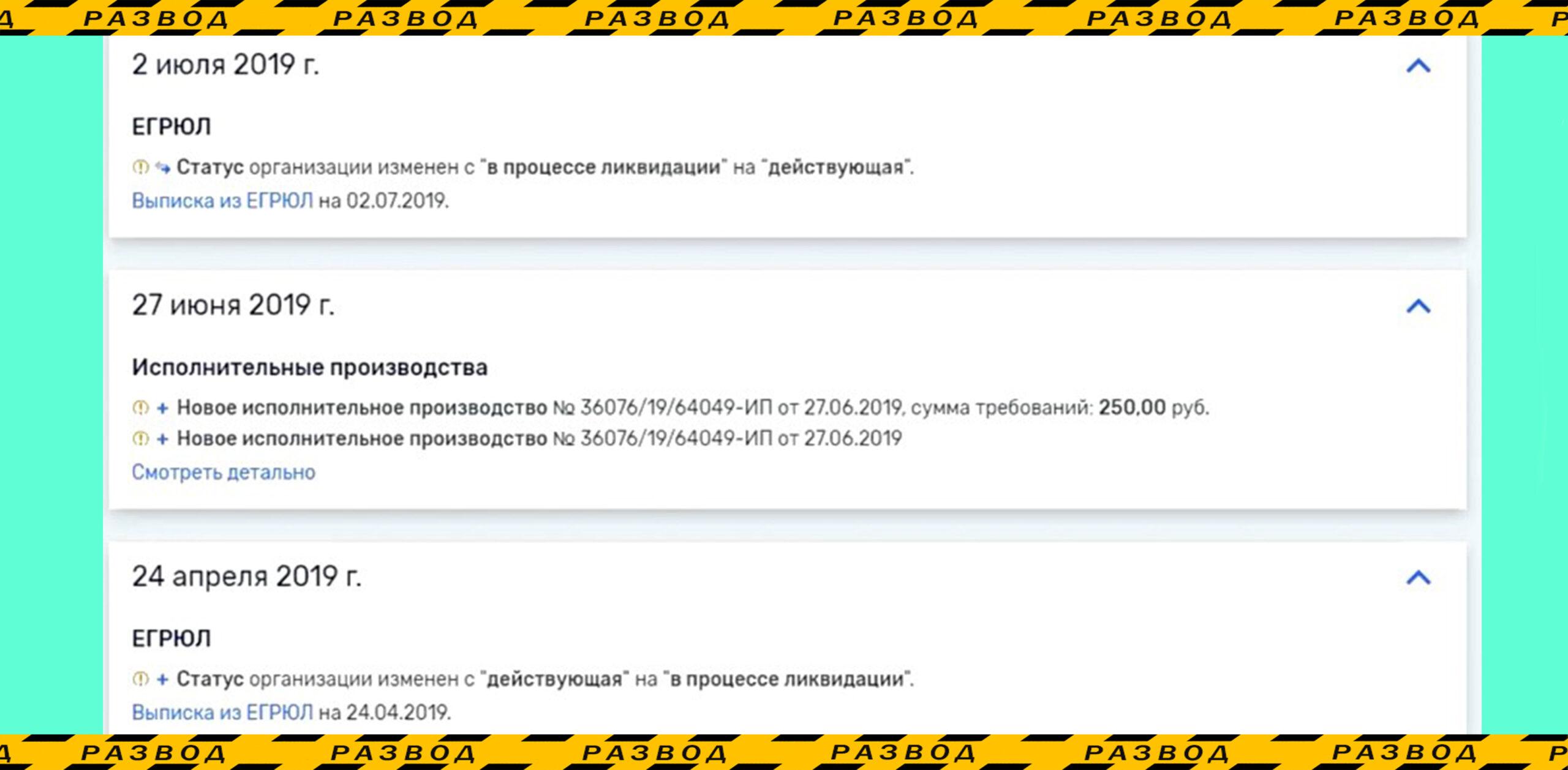 Регестрационные данные компании Юникорн
