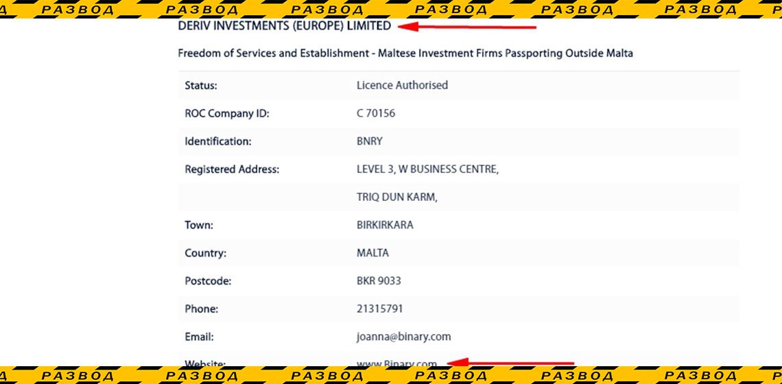 Лицензия брокера Deriv в Вануату
