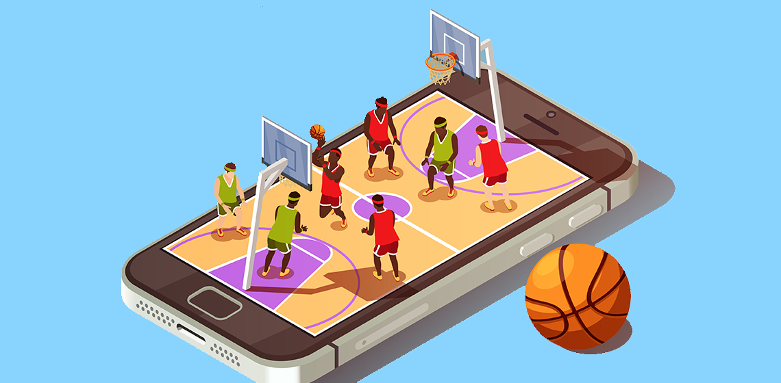 Игра в баскетбол на телефоне