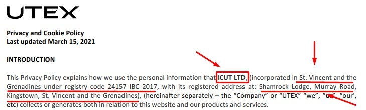 ICUT LTD политика конфиденциальности