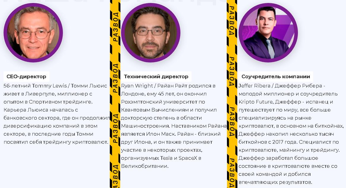 Организаторы Крипто Фьючи
