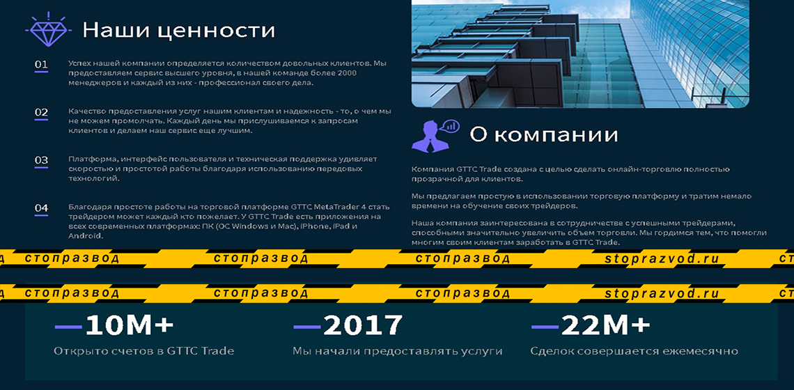 статистика платформы gttc trade