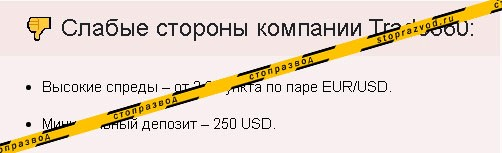 Trade 360 обзор мошенников